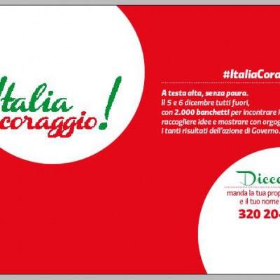 Con 'Italia coraggio!' il Pd tra la gente