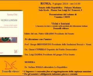 Invito Presentazione Libro: Vicini e lontani. L'incontro tra laici e cattolici nella parabola del riformismo italiano.